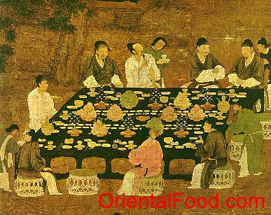 Orientalfood chinese banquet etiquette for Art culture and cuisine ancient and medieval gastronomy